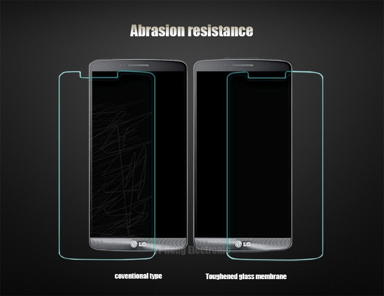Hot Sale! Brief pure black Front Glass Screen Protector for LG G3 cell mobile phone sticker skin