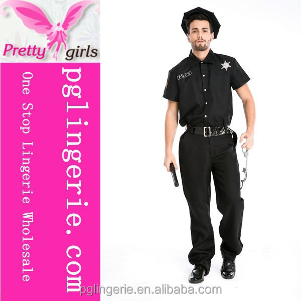 Man Fancy Carnival costume cheap chirstmas costume with jack cops party costumes