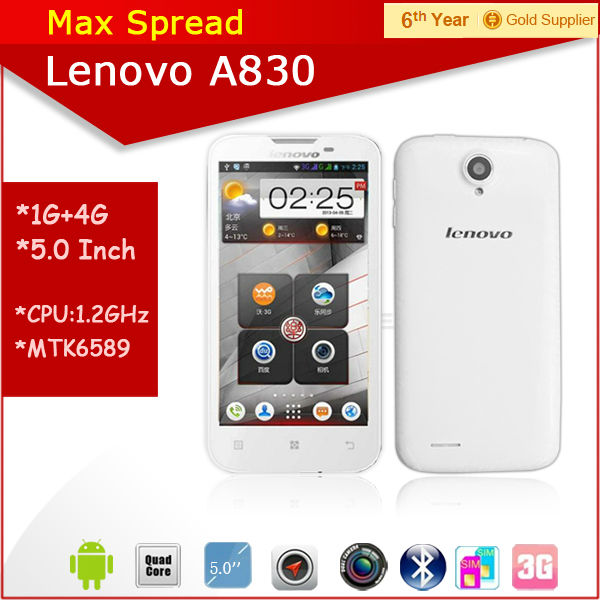 5.0'' Android 4.2 lenovo a830 mobile phone android non camera phone
