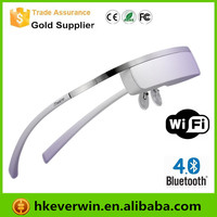 98inch 1080p 3D android Video Glasses with android system built-in Support wifi and bluetooth