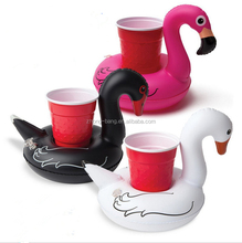 Stock pvc floating can holders inflatable swan drink holder