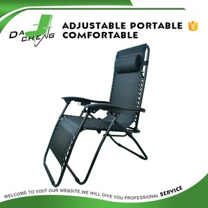 adjustable foldable beach zero gravity recliner deck chair