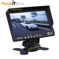 "12V/24V Car Bus Security System AHD 2-CH Inputs 7"" Digital LCD TFT Monitor with Aviation Connector"