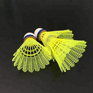 Retail wholesale Original genuine white yellow color Luwin 2000 competition Nylon badminton shuttlecock