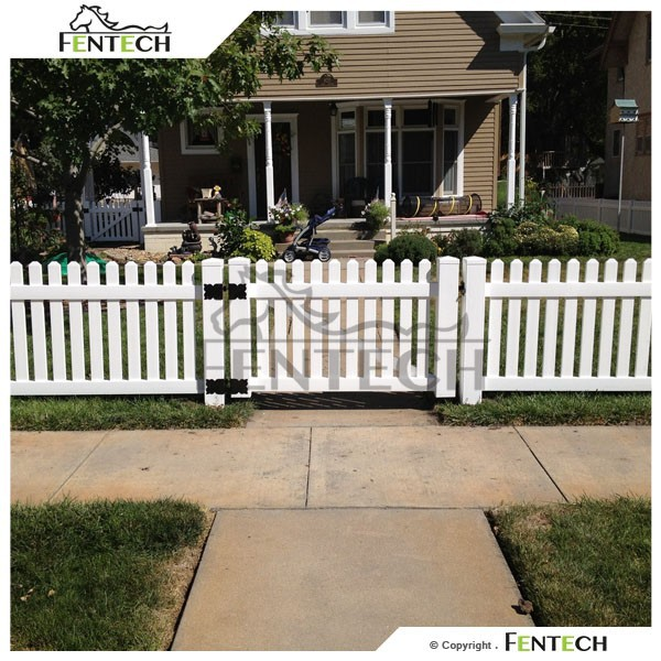 Made in China Fentech Top Standard White Cheap Widely Used Plastic Dog Garden Fence