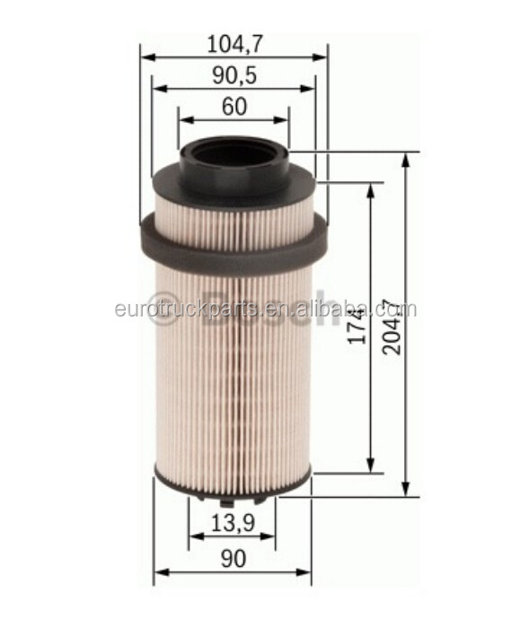 DAF 1397766 1784782 MANN PU999 2X Hot Sale Heavy Duty DAF truck filter Parts Oil Flter.jpg