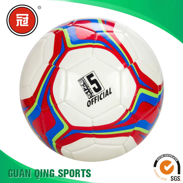 Soccer Ball Size 5 Official Machine Stitched PVC Foam China Manufacturer