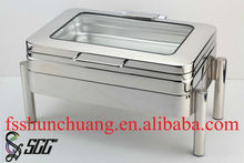 Hydraulic Induction Mechanical Induction Rectanglar Chafing Dish with Glass Top