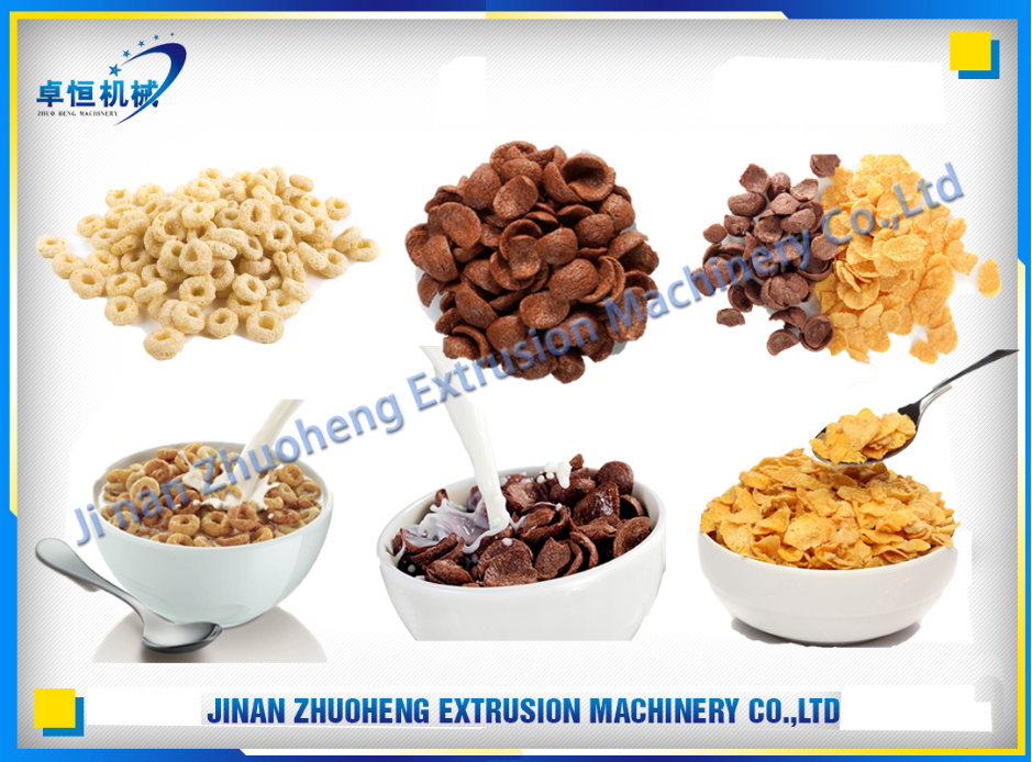 High Quality breakfast cereal cornflakes snack food making machine