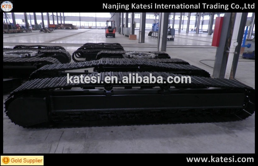 Track undercarriage and track chassis for transport in the factory and The construction site
