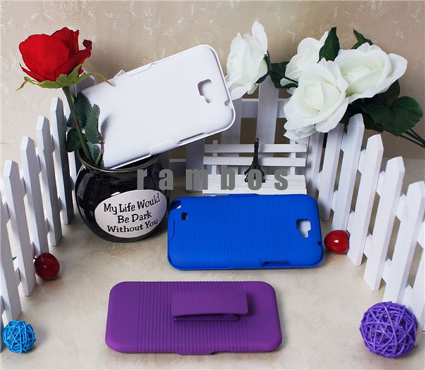 Colorful Hybrid Kickstand Case Cover + Belt Clip Shockproof Stand Case for Samsung Galaxy Note 3