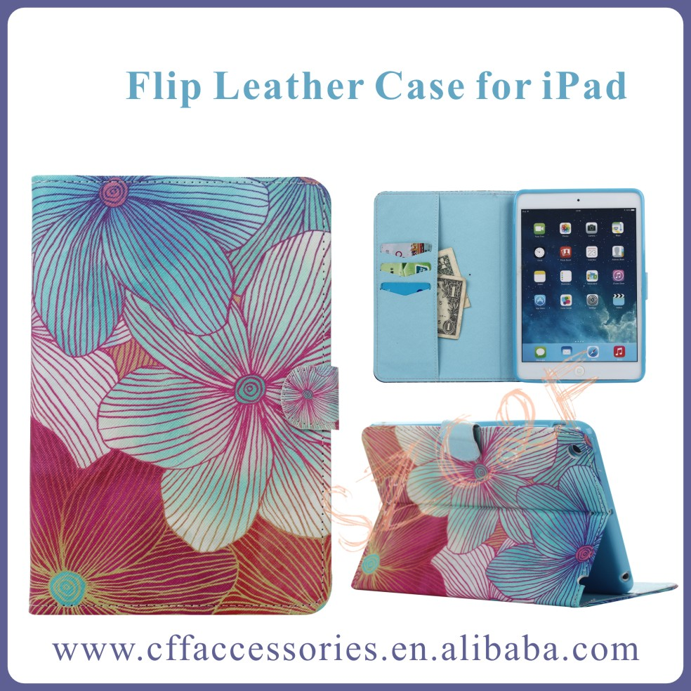 Colorful Pattern PU Leather Flip Stand Smart Case For iPad Mini 1 2 3 4