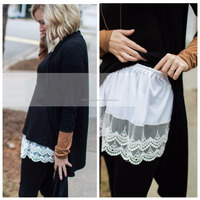 Cotton White Scalloped Lace Top Extender