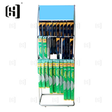 Custom durable metal wiper blade display stand with hooks
