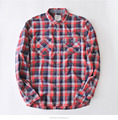 Custom made latest shirt designs for men in china long sleeve plaid shirt
