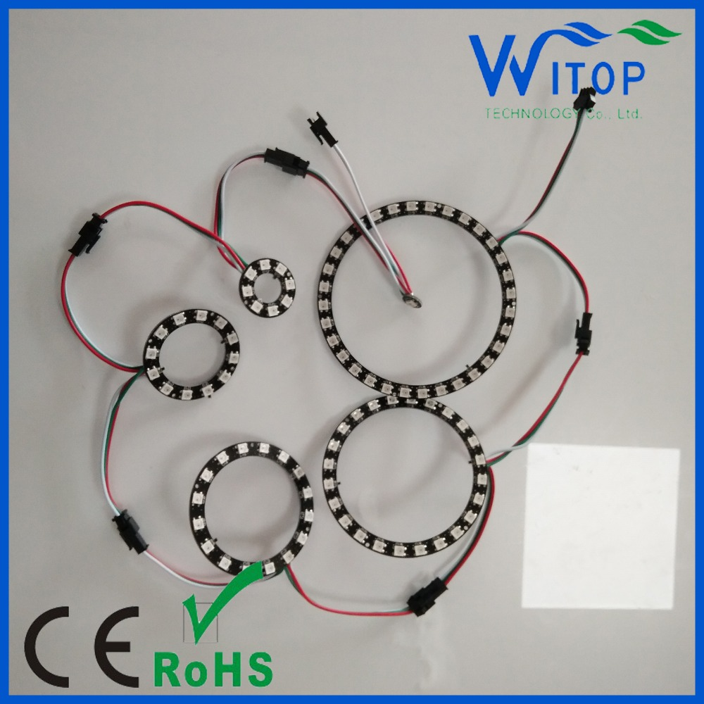 5050 RGB LED Pixel Ring WS2812B LED Ring Arduino Controller for car
