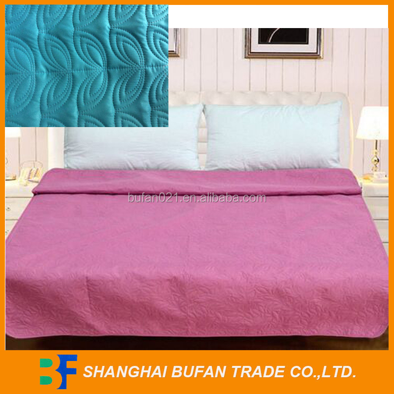 Microfiber custom printed quilt/solid color ultrasonic