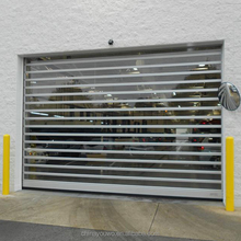 Motorized Polycarbonate PVC Rolling Shutter Doors Commercial PC Transparent Roll up Door