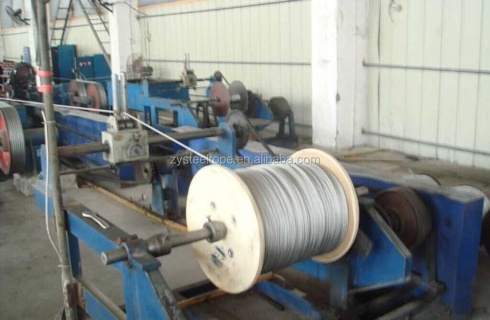 galvanized packing steel wire rope 6*24+7FC 10mm
