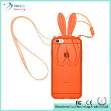 2015 China Supplier Soft TPU Skin Rabbit Bunny Ears Diy Silicone Cell Phone Case For Iphone Cell Phone Accessories