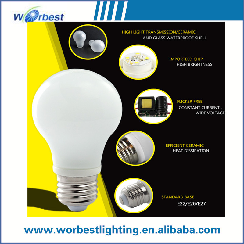 commercial light lamp 7W SMD A60 A19 E27 LED Spotlight Bulb 3 Years warranty