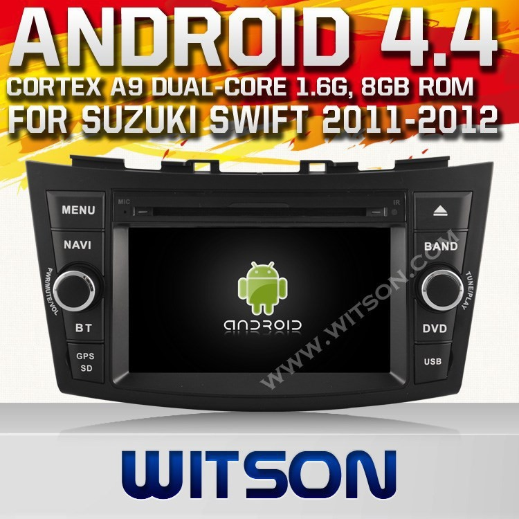 WITSON ANDROID 4.4 FOR SUZUKI SWIFT CAR DVD PLAYER GPS NAVIGATION 1080P FRONT DVR TOUCH SCREE STEERING WHEEL RDS A9 CHIPSET