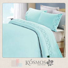 Polycotton modern design lace bright color bed sheet sets