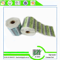 serial number bar code adhesive label printing