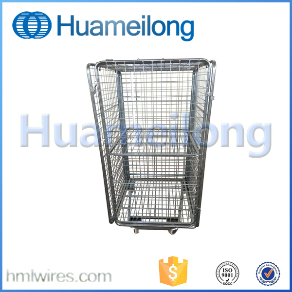 Supermarket metal mesh rolling security cage