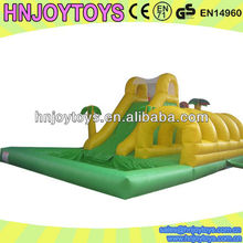 HNJOYTOYS Top Sale Giant Inflatable Water Slide Yellow