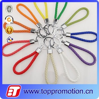 Colorful rope shape promotional cheap keychain