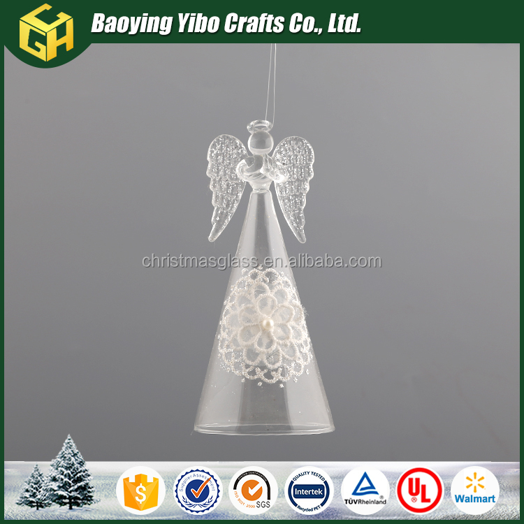 Wholesale clear glass angel figurines ornamnet