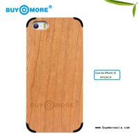 professional factory cherry wooden hard back cover cases for iphone 5s 5g 5