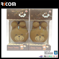 bear shape mouse,mini panda mouse,mini cartoon computer mouse--Shenzhen Ricom