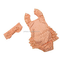 Wholesale factory directly polka gold dot one piece bodysuit for baby kids Seaside Bella romper