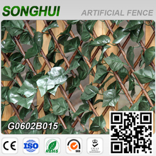 china supplier outdoor artificial extendabled willow fences for garden