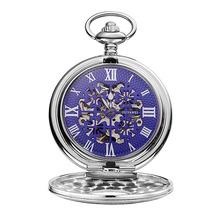 2017 Fashion Vogue Vintage Erotic Hang Stainless Steel Pocket Watch Mechanical