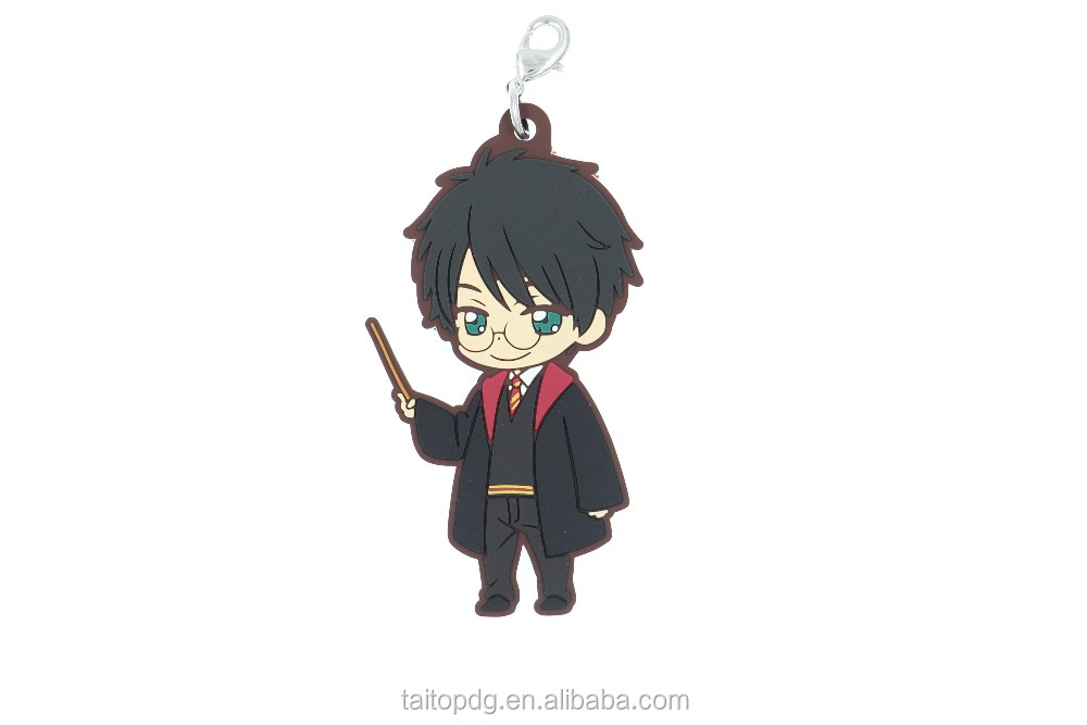 Harry potter soft pvc keychain