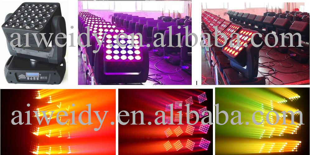 2018 news products 25*10W LED rgb Matrix Moving Head light for sale