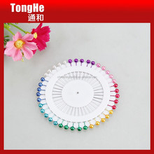 38mm length colorful pearl head straight pins