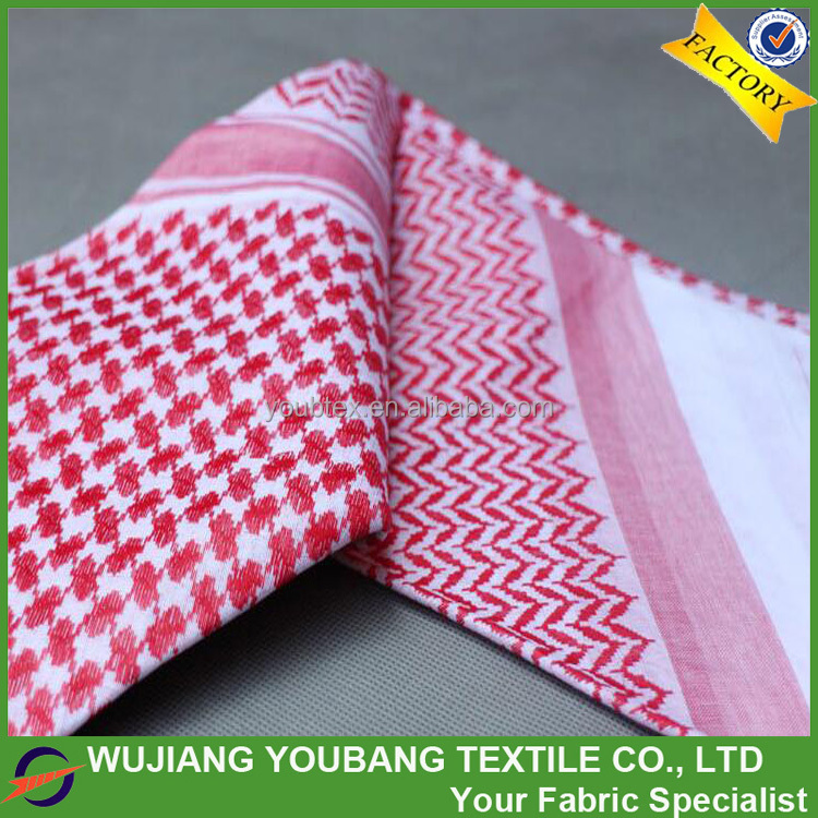 "Factory price 36""/62"" size 100% cotton soft red keffiyeh"