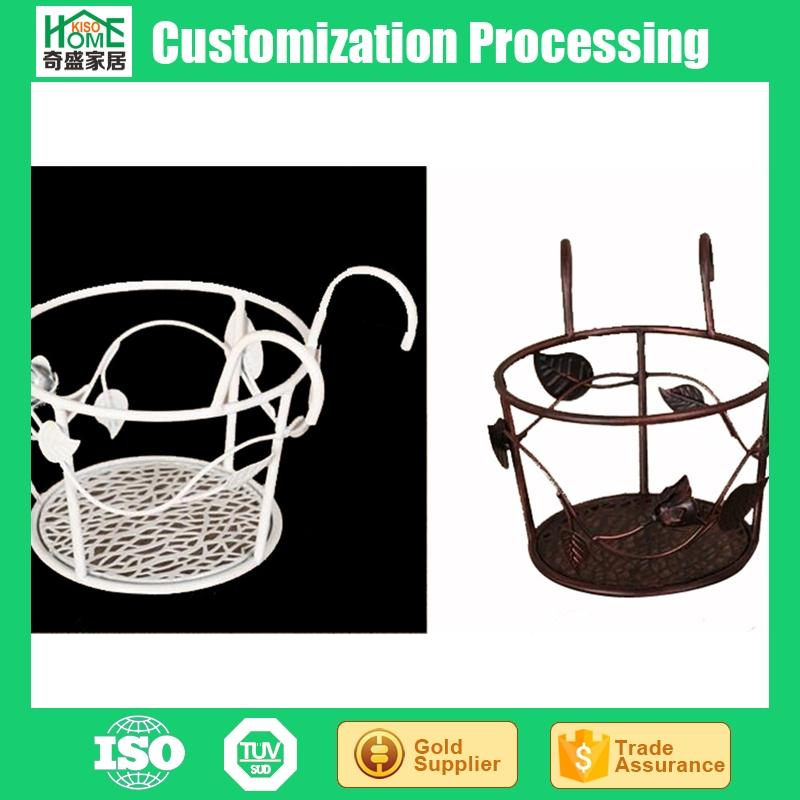 European Style Wrought Iron Wall Hanging Decorative Flower Pot Stands