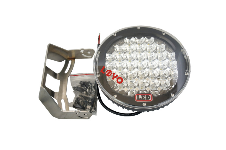 Car led light factory 4x4 9 inch 185W led driving light offroad led work light car for off road