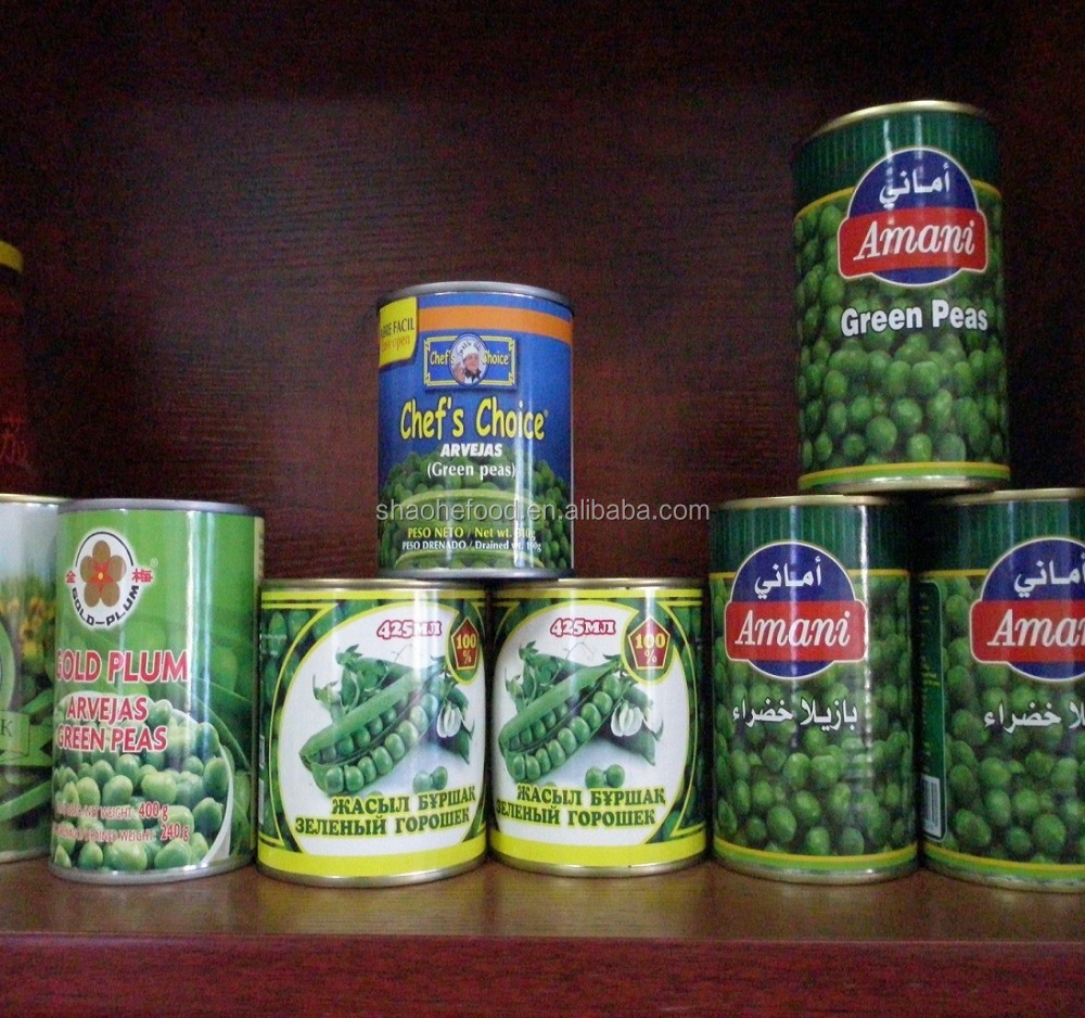Hot Selling New Crop Excellent Quality Canned Green Peas