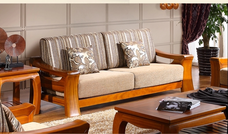 Teak wood sofa set design for living room living room for Wood living room furniture