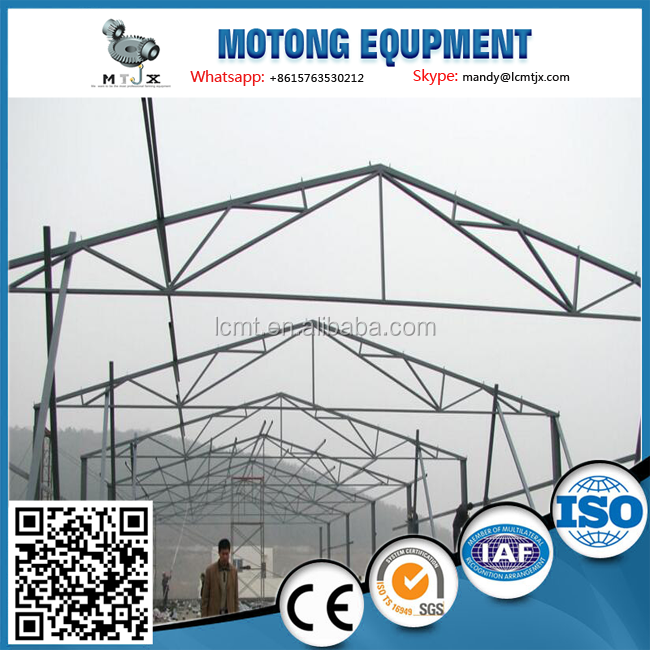 prefab poultry chicken shed for broiler farming