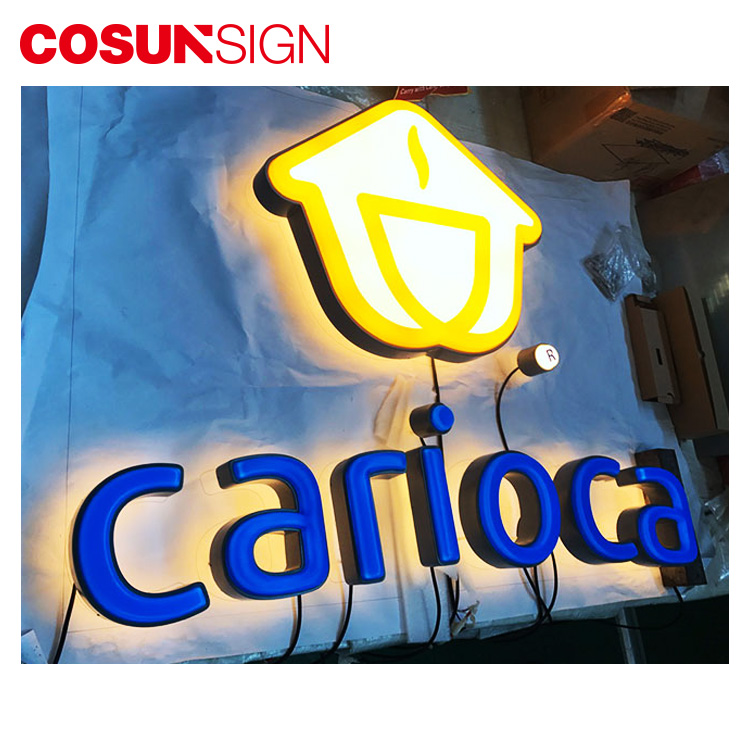 Custom Made Salon Store Front 3D Illuminated Metal Decor Led Thermoforming Logo Sign