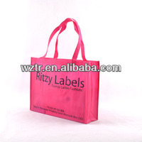 custom pictures printing advertising promotion pp non woven shopping bag
