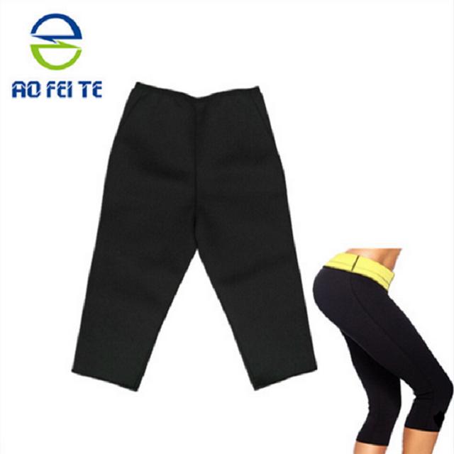 Aofeite Anti cellulite capris Neoprene hot body shapers hot Slimming rubber men dress pants