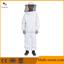 2017 Humanized bee keeper 100% cotton beekeeping protection suit for sale